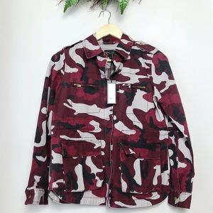 NWT Romeo & Juliet Couture Camo Camp Army Jacket